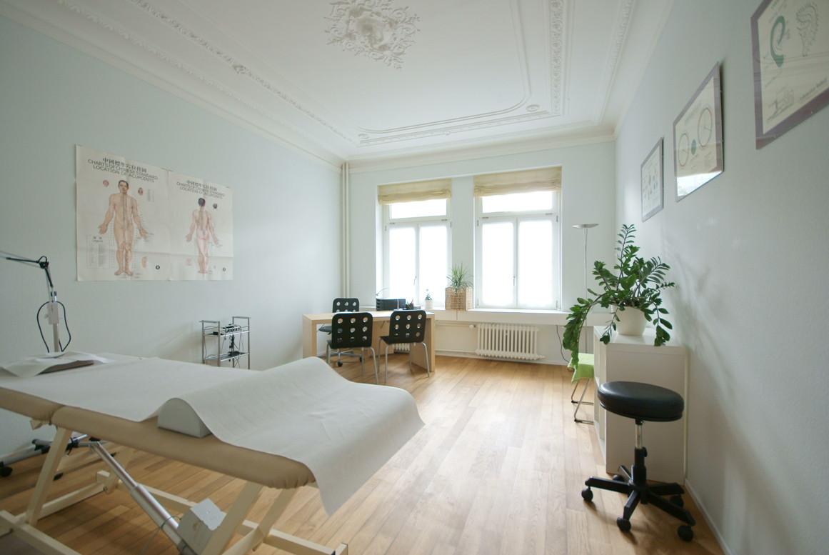 foto einzelansicht behandlungszimmer sued 1 xing lin tcm zentrum z rich. Black Bedroom Furniture Sets. Home Design Ideas
